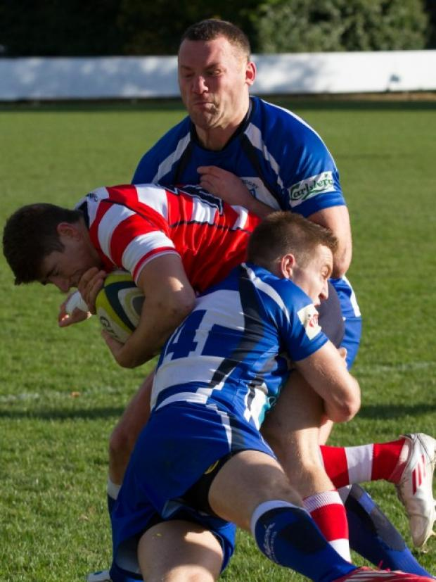 Chris Lillie (front) and Mike Swetman in action against Vale of Lune