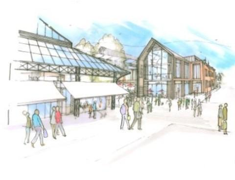 An artist's impression of the revamped Market Street area