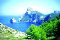 Periódicos Messenger: Majestuosa Mallorca: vista desde las rocas sobre Formenter
