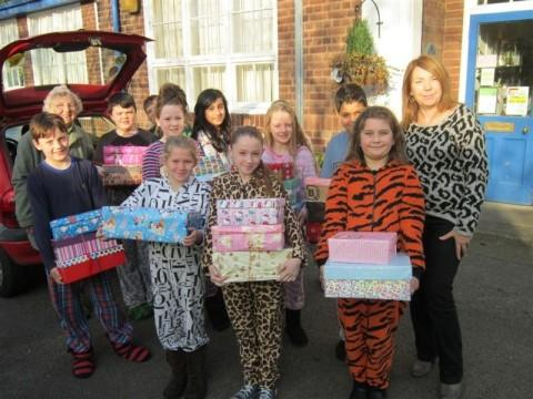 Shoeboxes collected for festive appeal