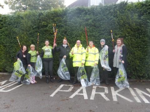 Volunteers who carried out the tidy-up