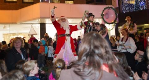 Santa at the Stamford Quarter in Altrincham
