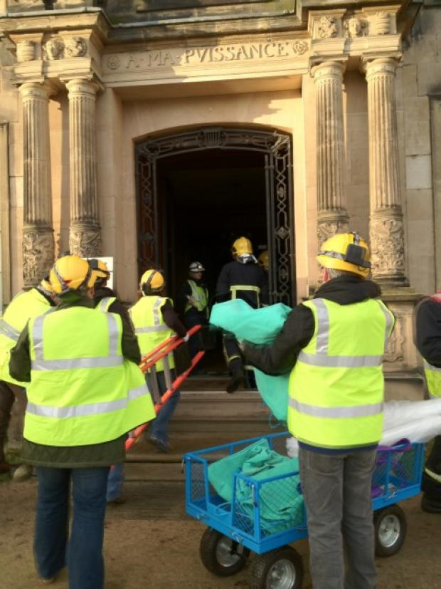 Greater Manchester Fire and Rescue Service take part in salvage exercise