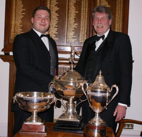 Jack and Ian Bullough with their 'major' trophies