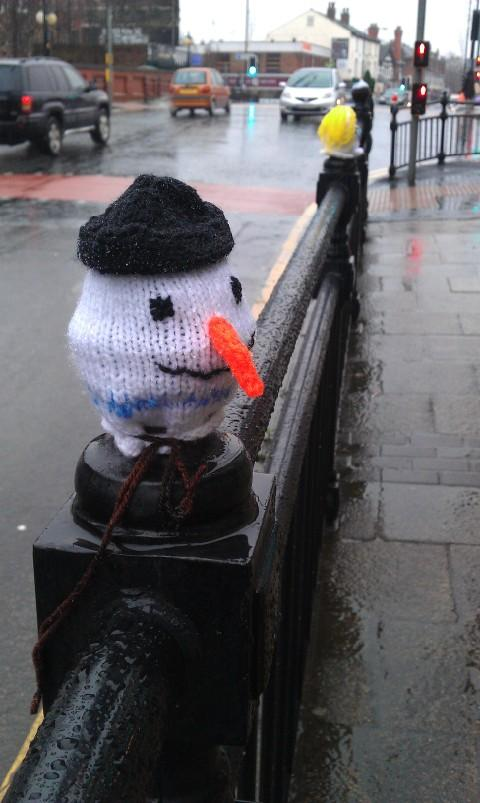 Urmston's mystery yarn bomber strikes again