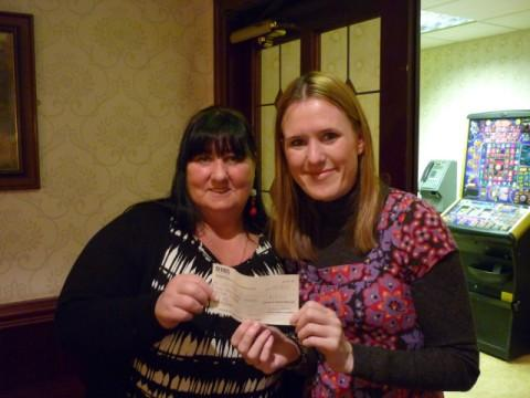 (left to right) Gaynor Dooley hands over the donation to Fiona Trotter