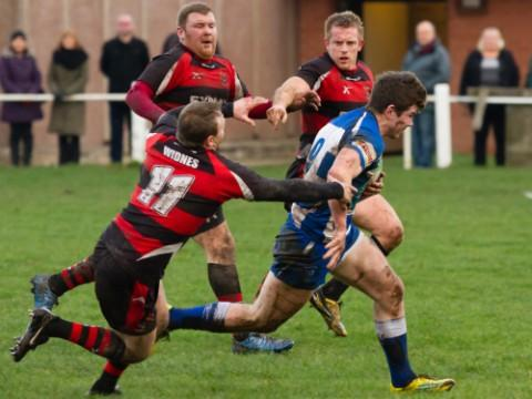 Ciaran Connolly in action against Widnes