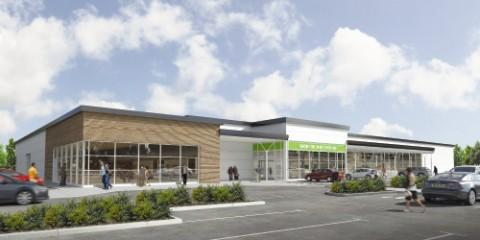 Artist's impression of the proposed Broadheath store