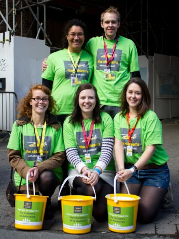TCAA volunteers at Manchester's Eurocultured festival in summer 2012 - just one of the many opportunities available to volunteers