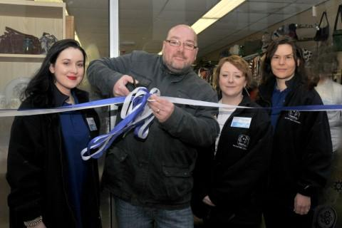 Paul opening the new Headway Sale store last month