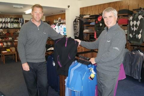 Pic Ian with assistant pro Paul Dennis in the refurbished shop