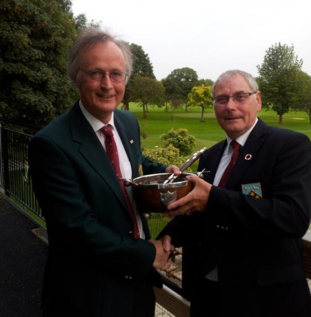 Dr Jerry Martin (left) returns to Entwistle Bowl to Ray Anderson