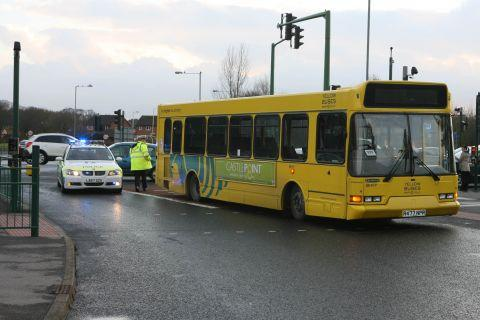 Boy, 14, knocked off bike by bus in Sale Moor