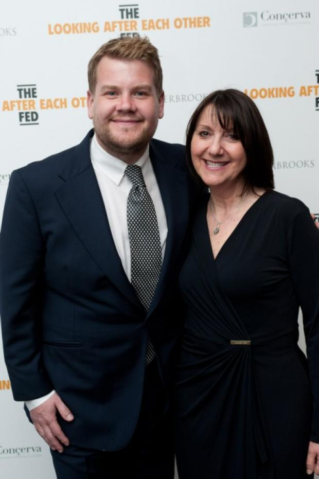 Messenger Newspapers: James Corden with the Fed's chief executive, Karen Phillips