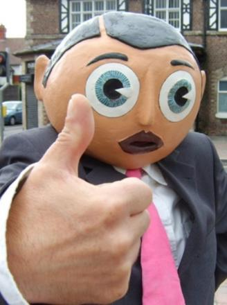 Much loved - the original Frank Sidebottom