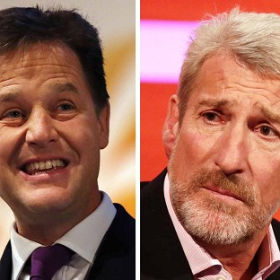 "Nick Clegg has criticised Jeremy Paxman's ""sneering"" attitude to politics"