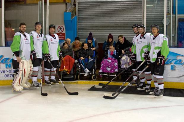 Ice to see you - the Stockdales party pictured with the Phoenix players