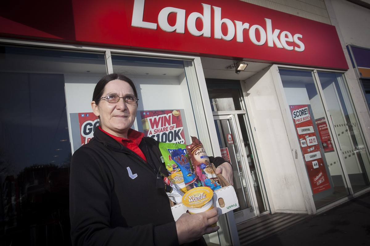 Marie Ward from Stretford Mall's Ladbrokes