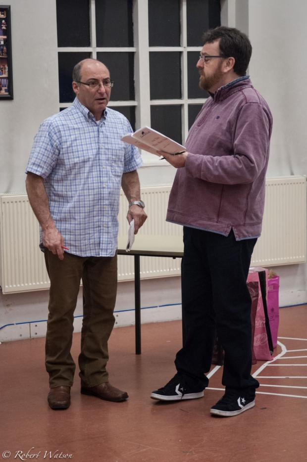 Messenger Newspapers: And Then There Were None in rehearsal