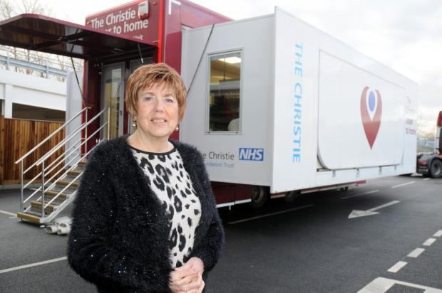 Lynn Metcalfe at the Chrisite mobile chemotherapy unit