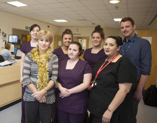 Trafford College students 'Kiss It Better' at Trafford General