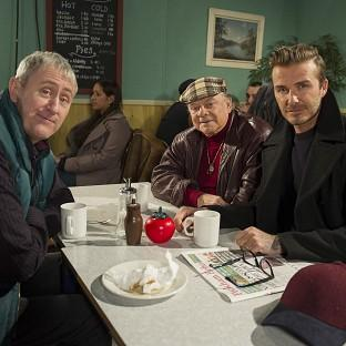 David Beckham joins Sir David Jason and Nicholas Lyndhurst for a special Only Fools an