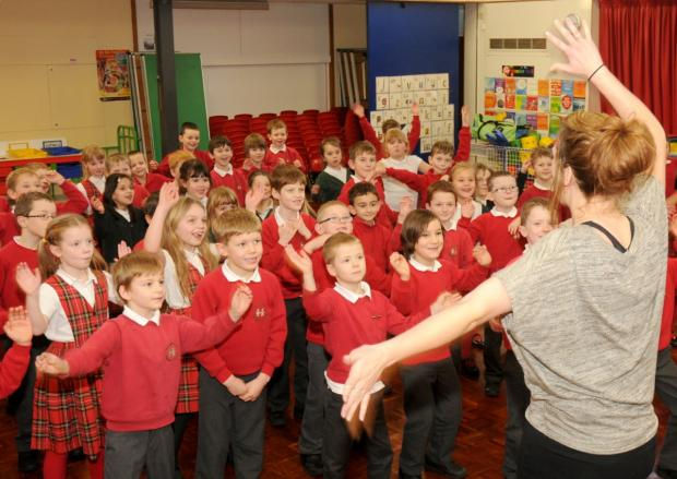 Sale Moor pupils produce a CD with the Pop UK team