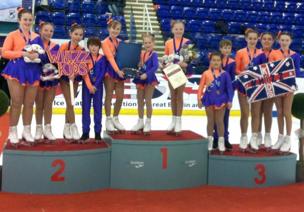 Altrincham syrnchronised skating team take bronze in British Championships