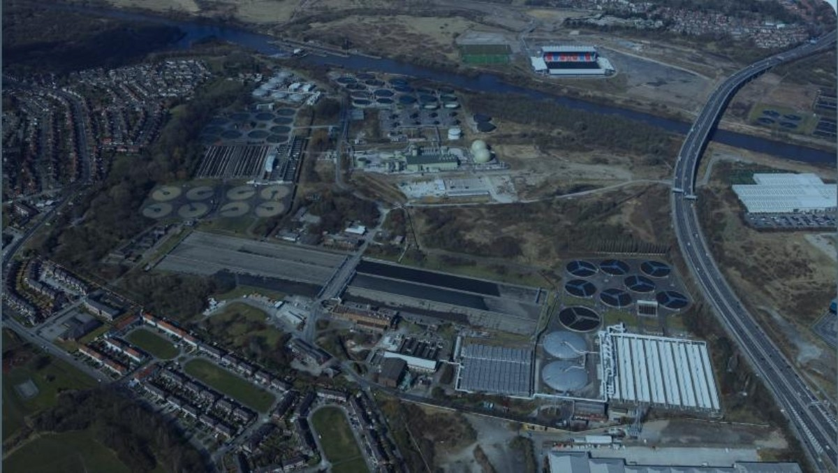 United Utilities treatment works in Davyhulme