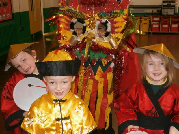 Dragon Parade at the Firs Primary School