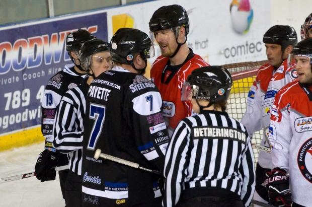 Phoenix's Robert Schnabel comes together with Steeldogs Andre Payette - by Richard Amor Allan