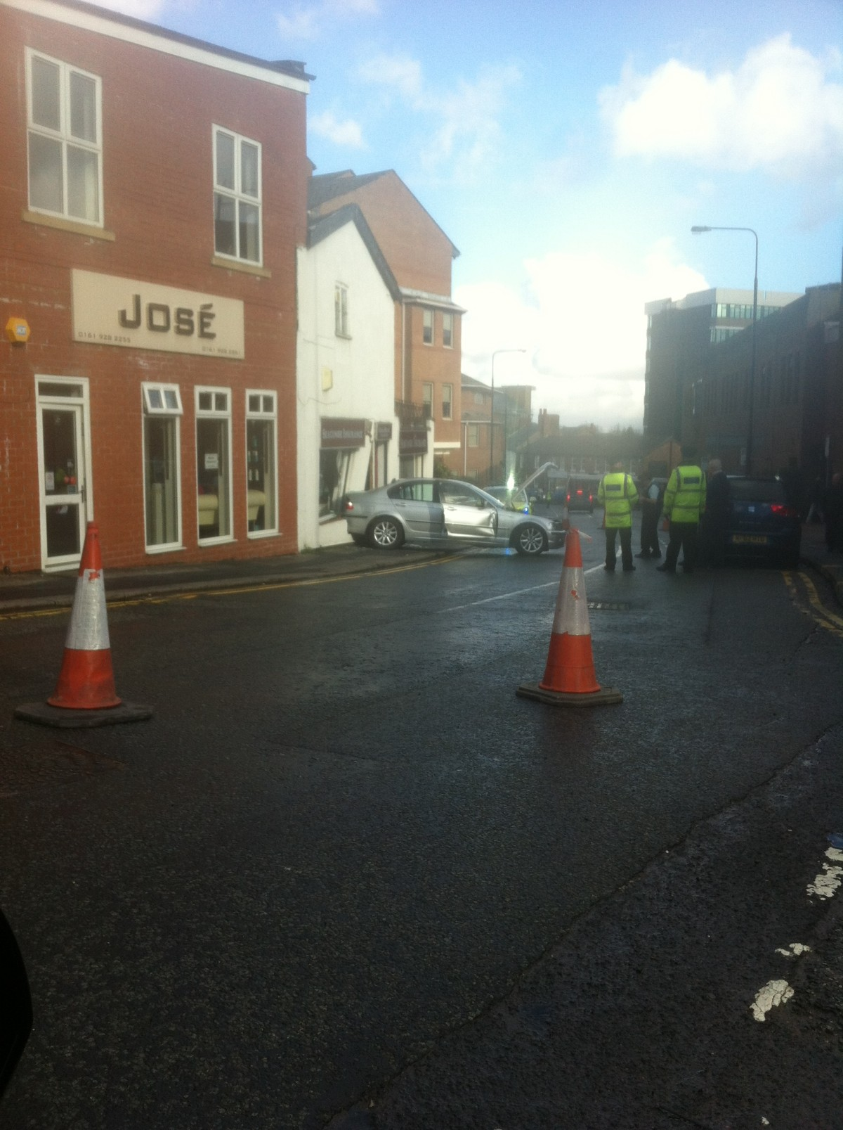 Car crash in Altrincham