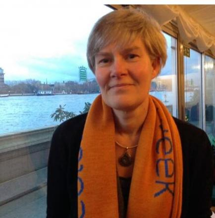 MP Kate Green and her special scarf