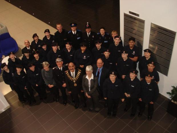 Passing out parade for Trafford volunteer police cadets