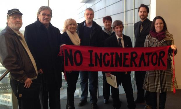 BCAG campaigners at the hearing at Manchester Civil Justice Centre