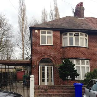 Messenger Newspapers: A house linked to student Abu Layth in Didsbury, Manchester, which was searched by police