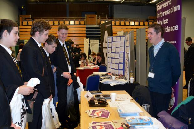Youngsters get advice at the the Connexions Apprenticeship Fair