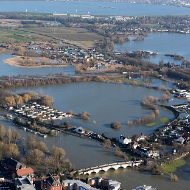Messenger Newspapers: Flooded properties in Chertsey, Surrey