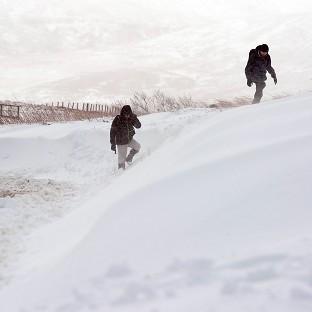 High-ground snow has been predicted for England and Wales