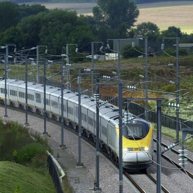 Messenger Newspapers: A Eurostar train travels through Ashford in Kent
