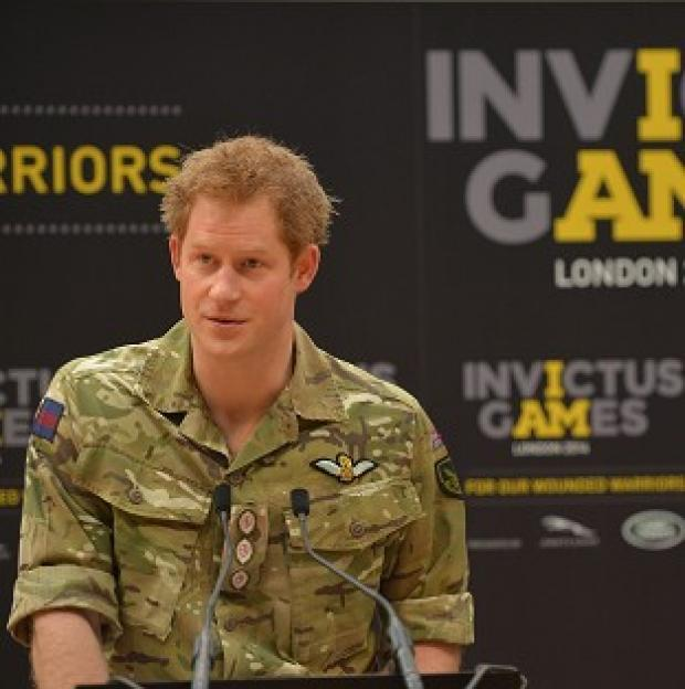 Messenger Newspapers: Prince Harry unveiling the Invictus Games, a Paralympic-style sporting championship for injured servicemen and women.