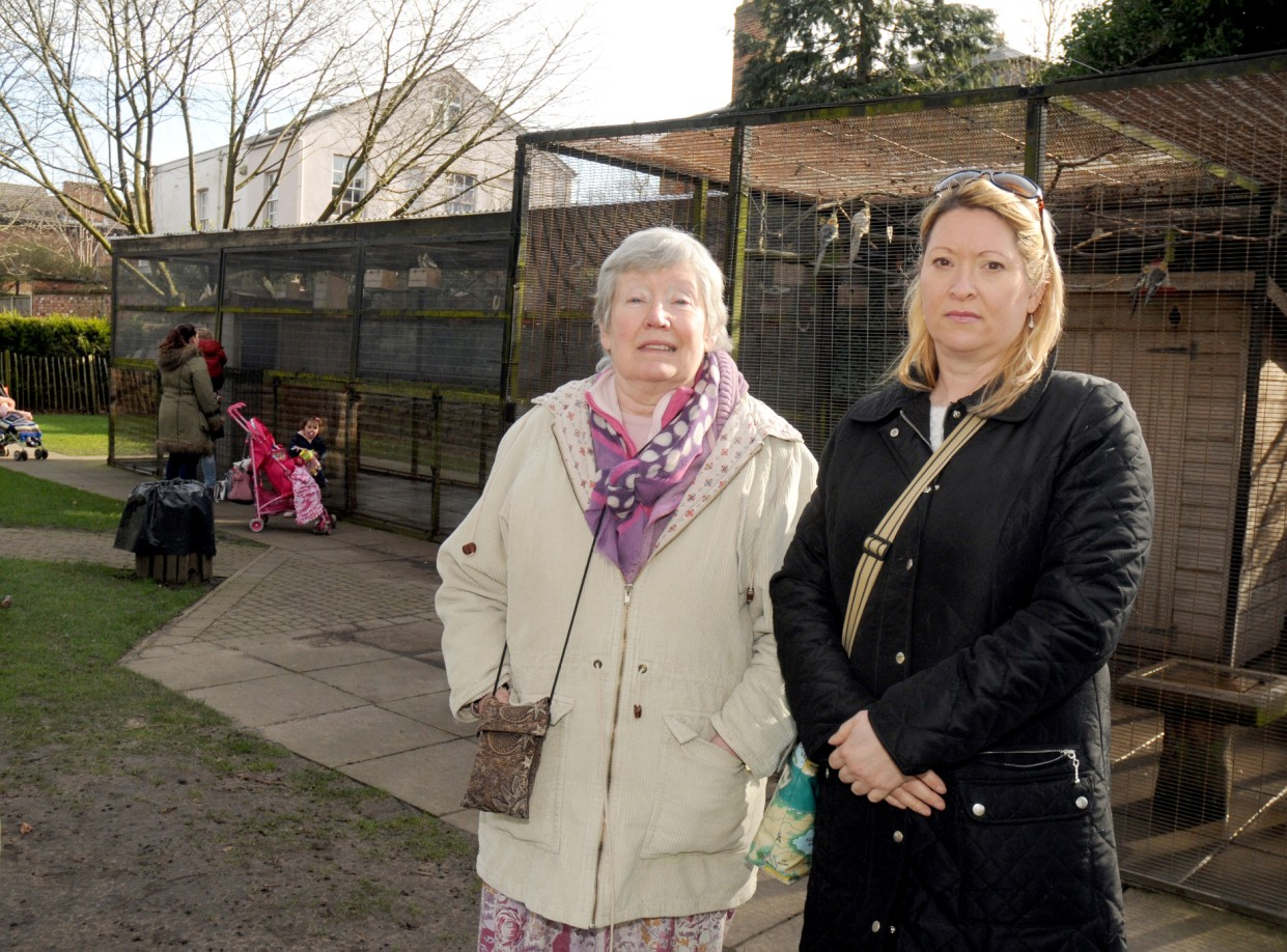 Park users Judie Collins and Sarah Walmsley