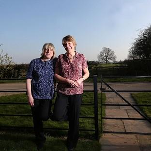 Celia Kitzinger (left) and Sue Wilkinson (right) who lost a legal fight to marry eight years ago wi