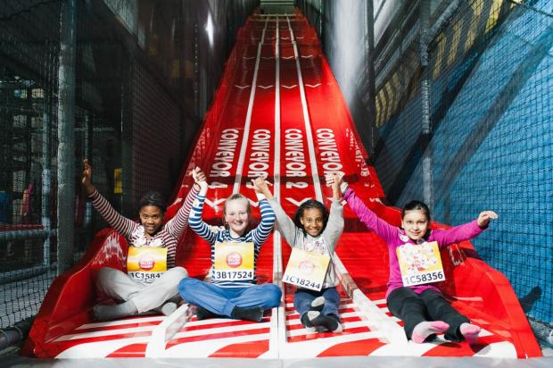 Trafford children attempt to slide into the record books