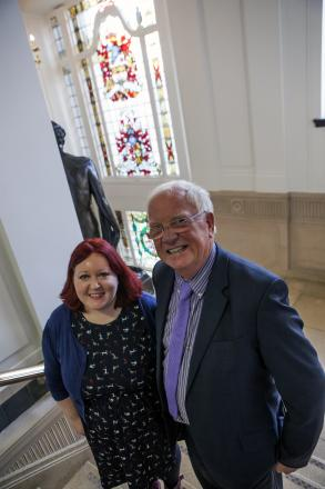 Kirsty Roberts and Cllr Brian Rigby