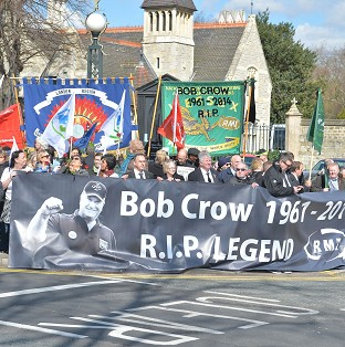 Unions out in force at Crow funeral