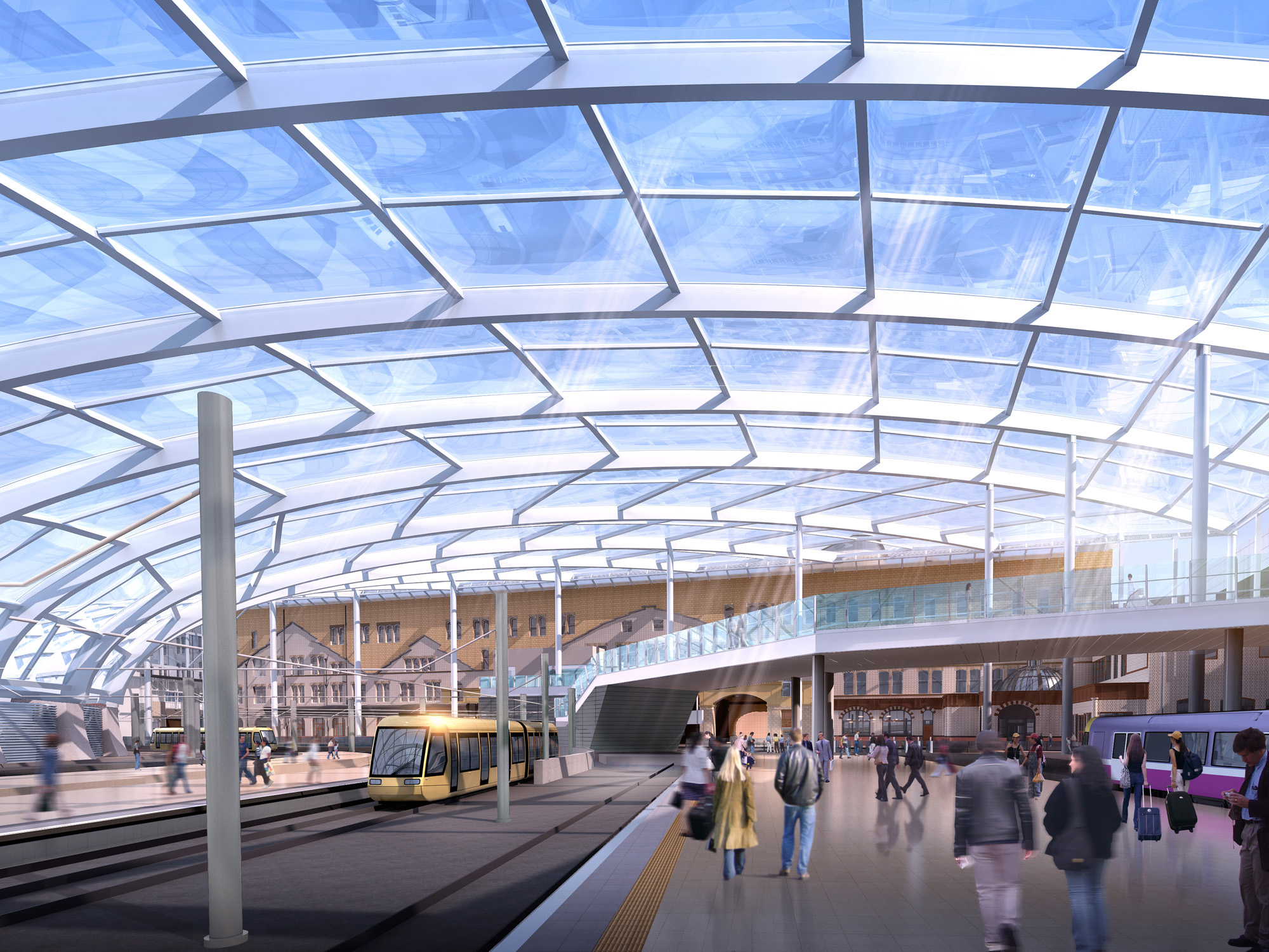 An artist's impression of how the revamped Victoria Station will look