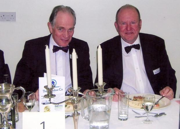 'Dining at Top Table, Colin Bamford, chairman, and Ian Livingstone