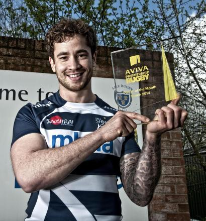Danny Cipriani and his player of the month trophy