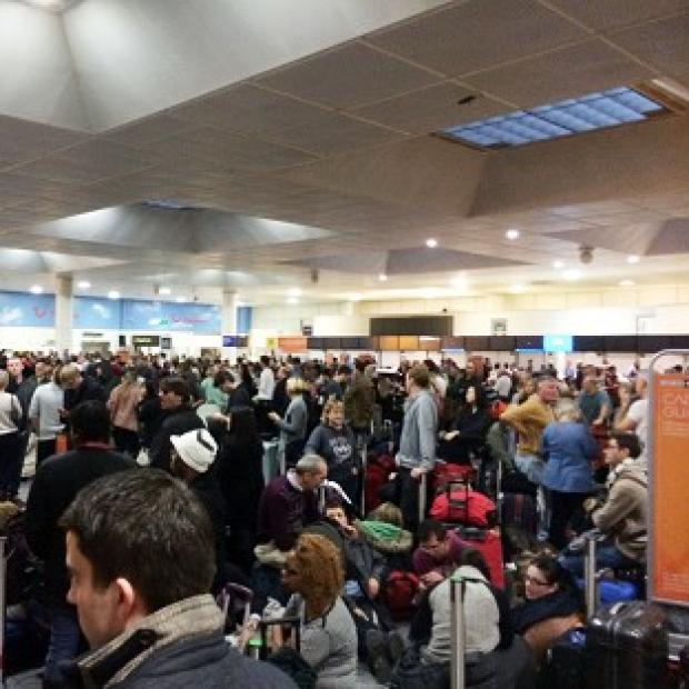 Messenger Newspapers: Passengers faced long delays at Gatwick Airport on Christmas Eve